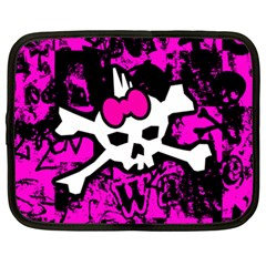 Punk Skull Princess Netbook Case (XXL) from ArtsNow.com Front