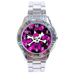 Punk Skull Princess Stainless Steel Analogue Men's Watch