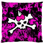 Punk Skull Princess Large Cushion Case (Two Sides) from ArtsNow.com Front