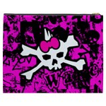 Punk Skull Princess Cosmetic Bag (XXXL) from ArtsNow.com Back