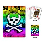 Rainbow Skull Playing Cards Single Design