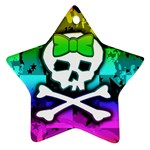 Rainbow Skull Star Ornament (Two Sides)