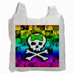 Rainbow Skull Recycle Bag (Two Side)