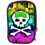 Rainbow Skull Compact Camera Leather Case