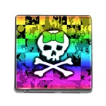 Rainbow Skull Memory Card Reader with Storage (Square)