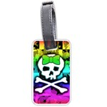 Rainbow Skull Luggage Tag (two sides)