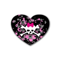 Scene Skull Splatter Heart Coaster (4 pack) from ArtsNow.com Front