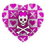 Skull Princess Ornament (Heart)
