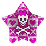Skull Princess Ornament (Star)