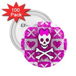 Skull Princess 2.25  Button (100 pack)