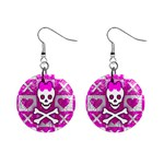 Skull Princess 1  Button Earrings