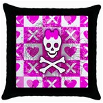 Skull Princess Throw Pillow Case (Black)