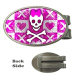 Skull Princess Money Clip (Oval)
