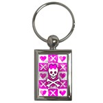 Skull Princess Key Chain (Rectangle)