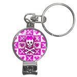 Skull Princess Nail Clippers Key Chain