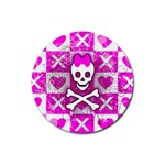 Skull Princess Rubber Coaster (Round)