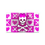 Skull Princess Sticker (Rectangular)