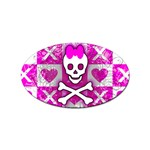 Skull Princess Sticker Oval (10 pack)
