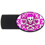 Skull Princess USB Flash Drive Oval (2 GB)