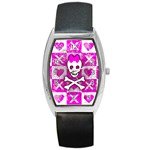 Skull Princess Barrel Style Metal Watch