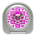 Skull Princess Travel Alarm Clock