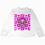 Skull Princess Kids Long Sleeve T-Shirt