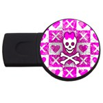 Skull Princess USB Flash Drive Round (4 GB)