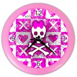 Skull Princess Color Wall Clock