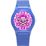 Skull Princess Round Plastic Sport Watch Small