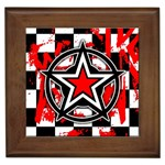 Star Checkerboard Splatter Framed Tile