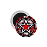 Star Checkerboard Splatter 1.75  Magnet
