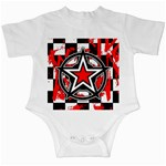Star Checkerboard Splatter Infant Creeper