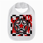 Star Checkerboard Splatter Bib