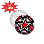 Star Checkerboard Splatter 1.75  Button (10 pack)