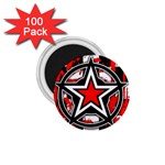 Star Checkerboard Splatter 1.75  Magnet (100 pack)