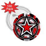 Star Checkerboard Splatter 2.25  Button (100 pack)