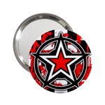 Star Checkerboard Splatter 2.25  Handbag Mirror