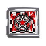 Star Checkerboard Splatter Mega Link Italian Charm (18mm)