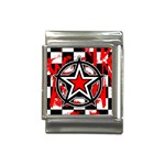 Star Checkerboard Splatter Italian Charm (13mm)
