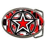 Star Checkerboard Splatter Belt Buckle