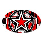 Star Checkerboard Splatter Magnet (Oval)