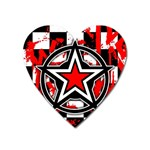 Star Checkerboard Splatter Magnet (Heart)