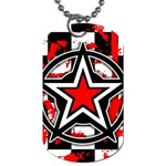 Star Checkerboard Splatter Dog Tag (One Side)