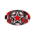Star Checkerboard Splatter Sticker Oval (10 pack)