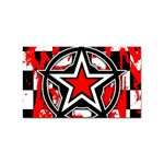 Star Checkerboard Splatter Sticker Rectangular (100 pack)