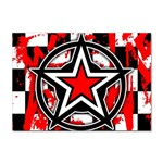 Star Checkerboard Splatter Sticker A4 (100 pack)