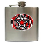 Star Checkerboard Splatter Hip Flask (6 oz)