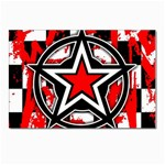 Star Checkerboard Splatter Postcards 5  x 7  (Pkg of 10)