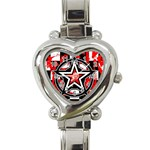 Star Checkerboard Splatter Heart Italian Charm Watch