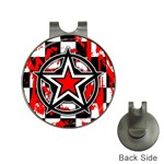Star Checkerboard Splatter Golf Ball Marker Hat Clip